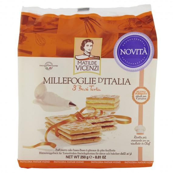 VICENZI 3 BASI PER TORTA MILLEFOGLIE GR.250