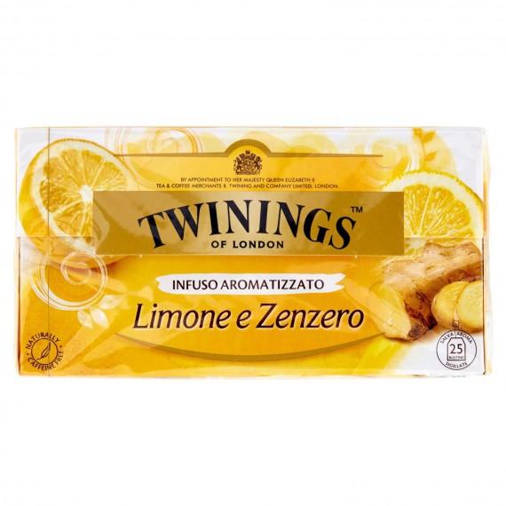 TWININGS INFUSO LIMONE E ZENZERO 25 FILTRI