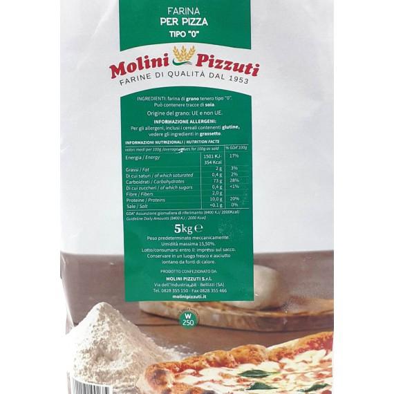 MOLINI PIZZUTI FARINA TIPO 0 PER PIZZA KG.5
