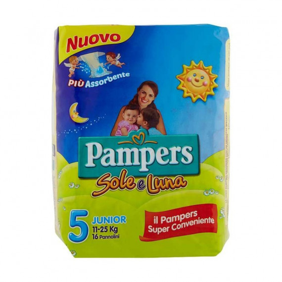 PAMPERS PANNOLINI SOLE  LUNA 5 JUNIOR 11-25 KG