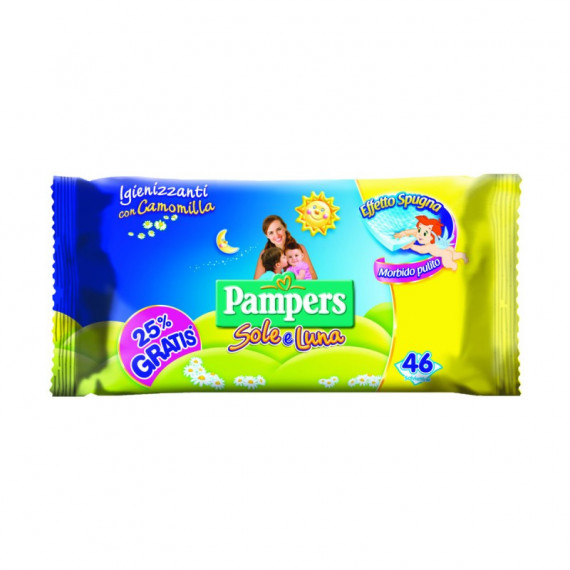 PAMPERS SOLE  LUNA SALVIETTINE UMIDIFICATE X46