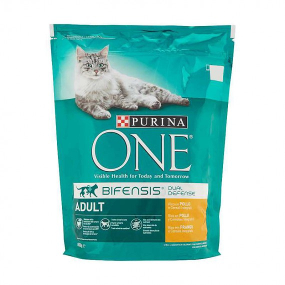 PURINA ONE CAT ADULT BIFENSIS POLLO E CEREALI GR.800