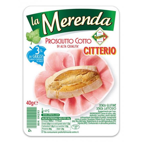 CITTERIO LA MERENDA PROSCIUTTO COTTO ALTA QUALITA GR.40