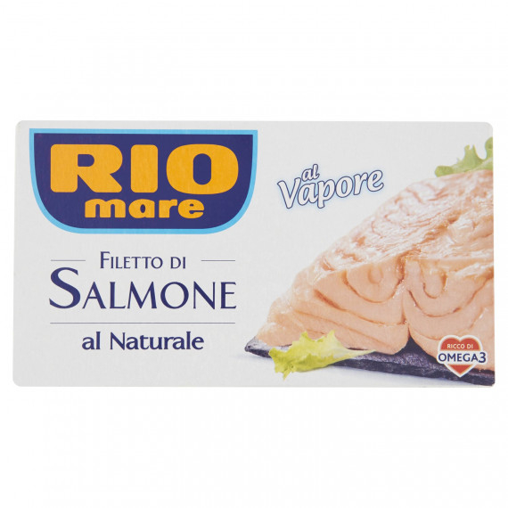 RIO MARE FILETTO DI SALMONE AL NATURALE AL VAPORE GR.125