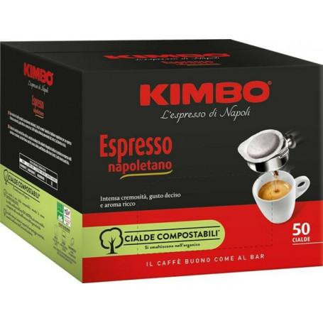 KIMBO ESPRESSO NAPOLETANO CIALDE COMPOSTABILI PEZZI 50