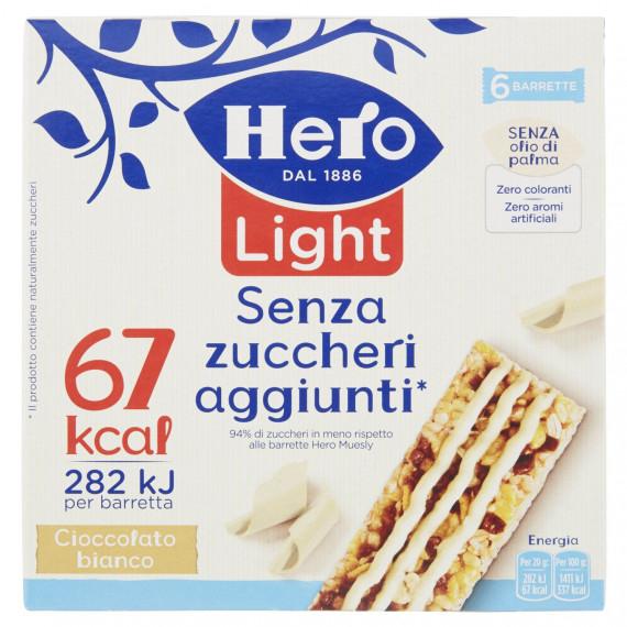 HERO MUESLY LIGHT CIOCCOLATO BIANCO 6 BARRETTE GR.120
