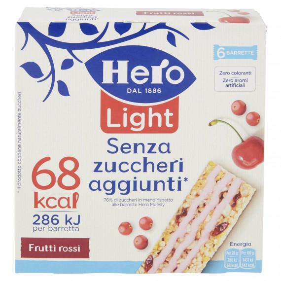 HERO MUESLY LIGHT FRUTTI ROSSI 6 BARRETTE GR.120