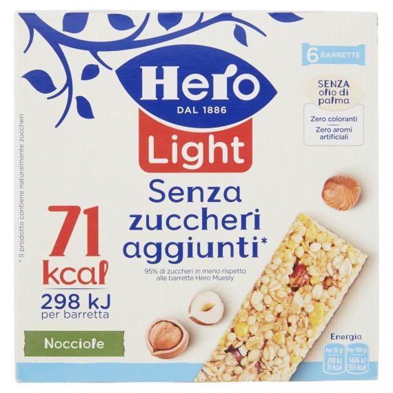 HERO MUESLY LIGHT NOCCIOLE 6 BARRETTE GR.120
