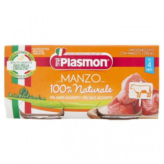 PLASMON OMOGENEIZZATO MANZO E CEREALE 2X80 GR.