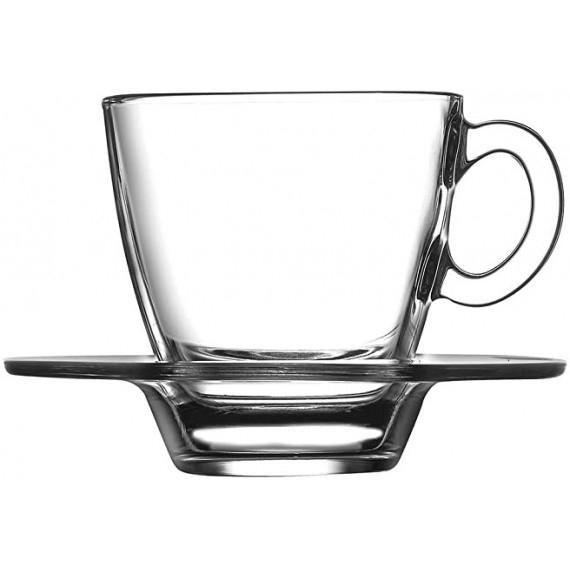 PASABAHCE AQUA SET TAZZA CAFFE E PIATTINO