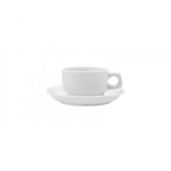 LUBIANA AMERICA/KASZUB-HEL BIANCO TAZZA CAFFE CON PIATTO KASZUB-HEL IMPILABILE CL.9 -6-